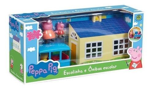 Peppa Pig Escolinha E Ônibus Escolar Dtc