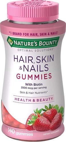 Vitamina Biotina Optimal Solutions Pelo, Piel Y Uñas Gomita