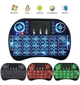 Mini Teclado Air Mouse Touch Sem Fio Box Wireless C Luz