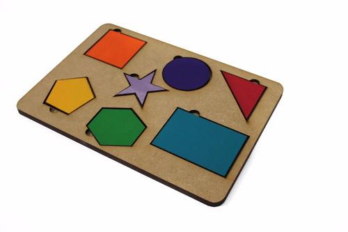 Brinquedo Tabuleiro Formas Geométricas Educativo Pedagógico