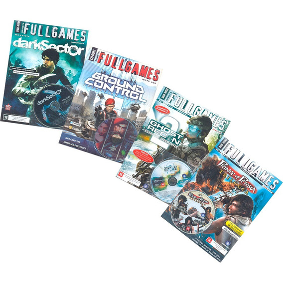 Full Games Revista + Dvd-rom Jogos Para Pc Kit 4 Revistas