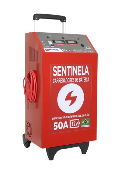 Carregador De Bateria Automotivo 50a Ca 12v C/aux De Partida