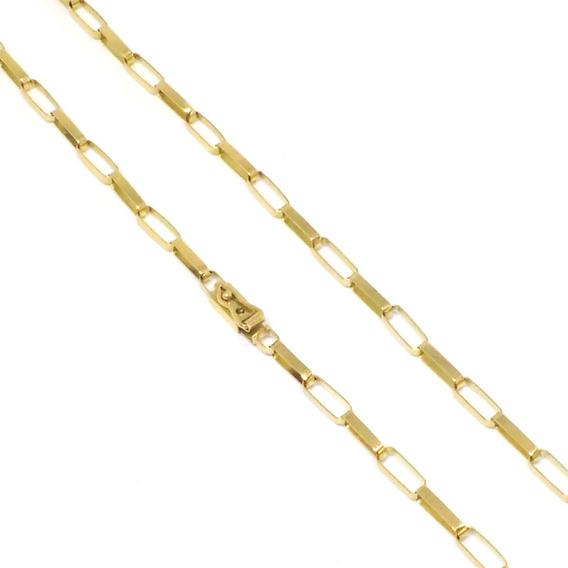 Cordão Ouro 18k Corrente Baguete Masculina 60cm 10 Gramas