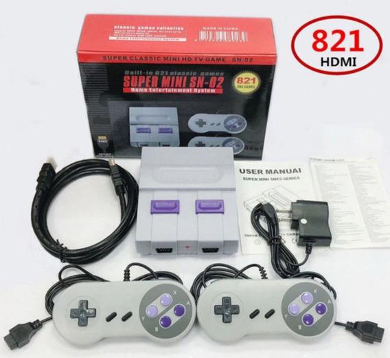 Super Mini Sn-02 821 Jogos 8 Bits Nintendo + Brinde 2ª Foto