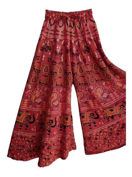 Calça Pantalona Feminina Estampada Indiana