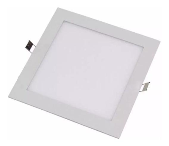 Painel Plafon Luminaria Teto Embutir Quadrado Led 12w Gesso