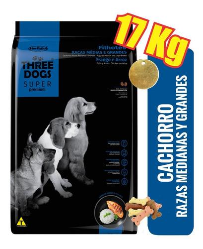 Imagen 1 de 3 de Three Dogs Cachorro Mediano O Gde 15+2k Costa, Bbcos, Pando+