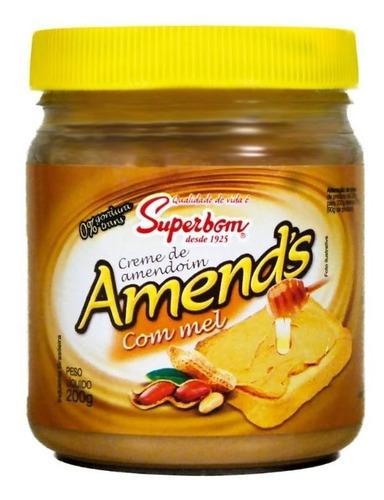 Imagem 1 de 1 de Creme De Amendoim Com Mel 200g Amend's - Superbom