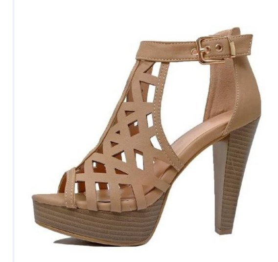 Sandalias Para Dama Con Plataforma Tipo Gladiador