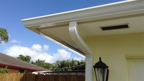 Canaletas Desagües Techos Aluminio Isopanel Teja Americana