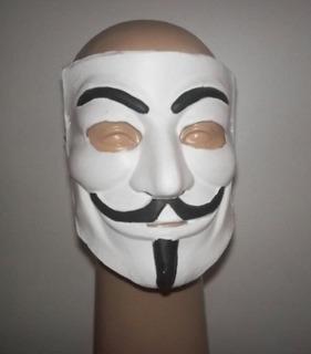 Mascara V For Vendetta Latex Comic Hacker Mask Halloween