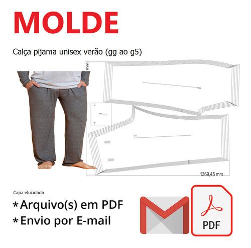 Calça Pijama Unisex Verão (gg Ao G5)