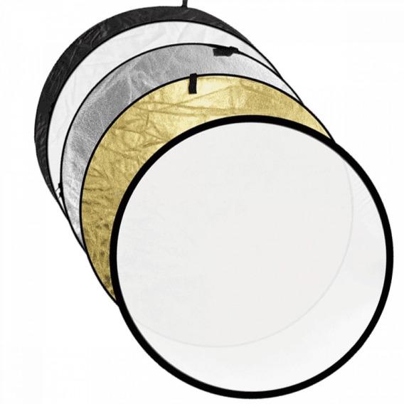 Rebatedor Refletor 5x1 60cm Difusor De Luz Circular 5 Em 1