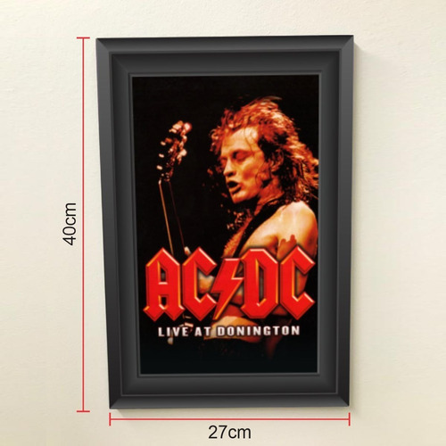 Quadro 40x27 Rock N Roll Ac/dc Live At Donington
