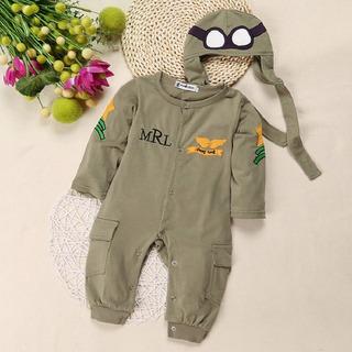 Uniforme Farda Infantil Aviador Piloto Forças Armadas Bebê