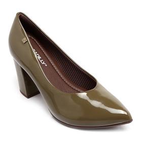 443830132c Sapato Scarpin Verde Musgo - Scarpins para Feminino no Mercado Livre ...