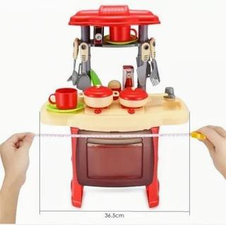Juego De Cocina Con Mesa Y Accesorios Para Niña