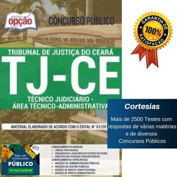 Apostila Tj Ce 2019 - Técnico Área Administrativa - Ceará