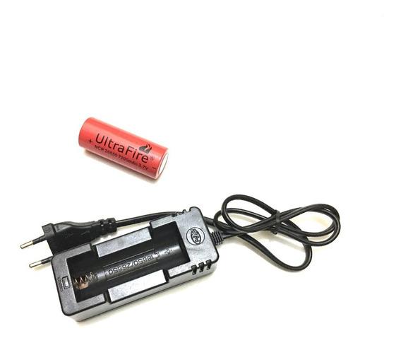 Kits Carregador + Bateria Recarregavel 26650 7200mah 3,7v