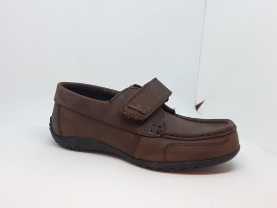 Zapato Náutico Marrón Con Abrojo Plumitas