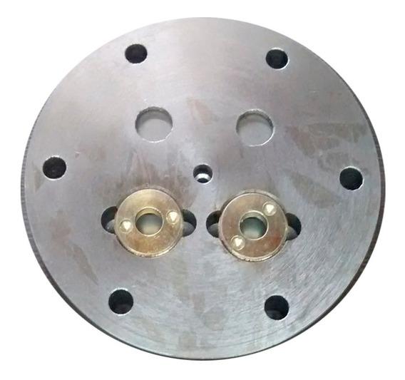 Placa De Valvulas Compressor Doaut Pistao 120 Mm 6 Furos