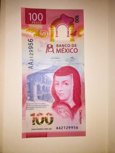 Imagen 1 de 2 de Raro Y Unico Billete De 100 Pesos Seria Aa