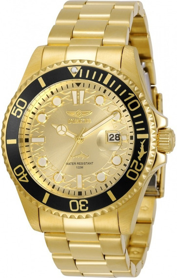 Relógio Invicta Pro Diver 30025 - Dourado 18k - Original