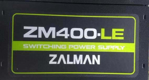 Fonte Atx Zalman Zm400-le Gamer Semi Nova