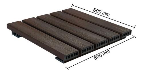 Imagem 1 de 2 de Deck Modular Madeira Plastica 50x50cm