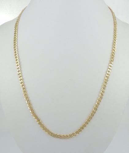 Promoção Corrente Cordão Masculino 70cm Grumet Ouro 18k 750
