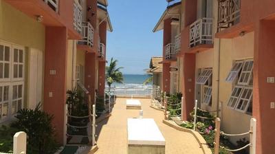 Lindo Sobrado, Condomínio Fechado - Frente Para Praia