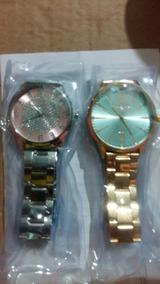2 Relógios Lindos Novos E 100% Original E Prova Dagua