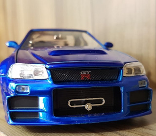 Miniatura Carrinho Velozes E Furiosos Nissan Skyline Gt-r34