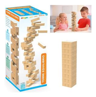 Jogo Torre Equilíbrio Brinquedo Jenga Terremoto Mdf Junges