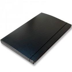 Carpeta Caja Archivo F.negra C/elástico Lomo 2cm Por 2 Unid