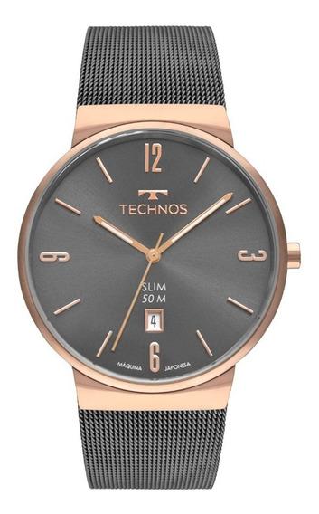 Relógio Technos Masculino Slim Analógico Gm10yn/4p