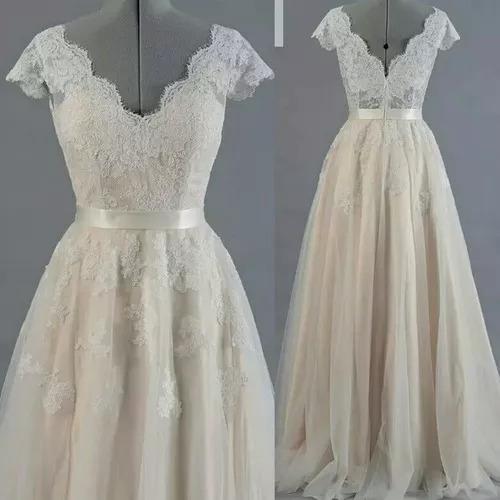 Vestido De Noiva Plus Size Boho Chic/vintage/campo/praia