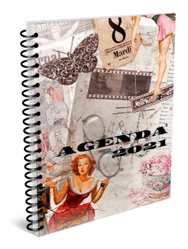 Agenda Vintage 2021, Kit Imprimible. Envío Gratis.