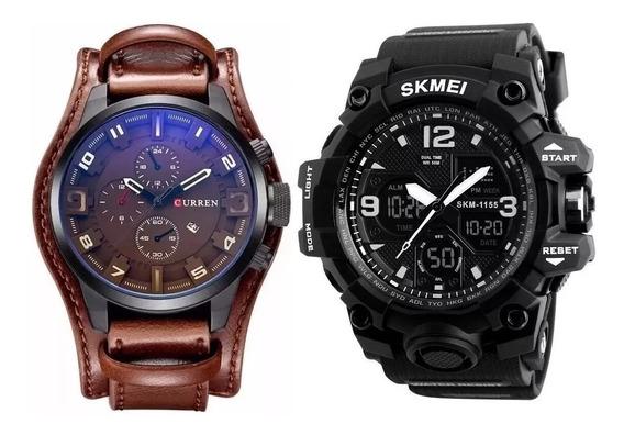 Relógio Masculino Curren 8225 Skmei Digital Analógico Ostent