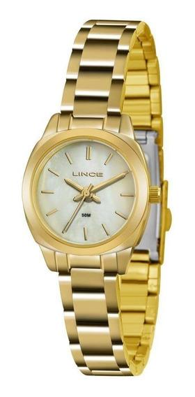 Relógio Feminino Lince Clássico Lrg4436l B1kx Dourado