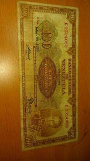Dificil Orejon 100 Bolivares 1953