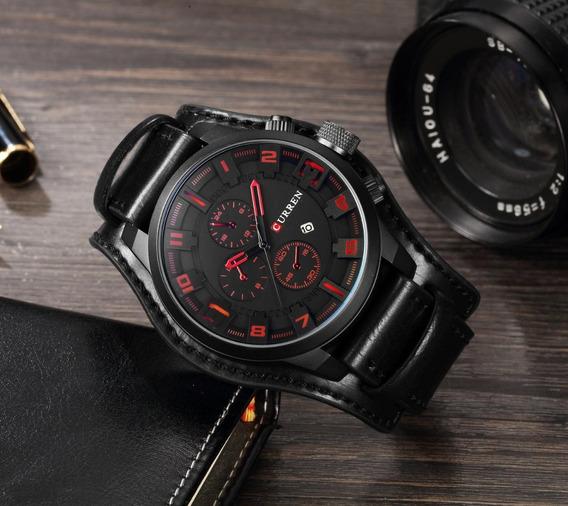 Relógio Masculino Curren Original Resistente À Água Promoção