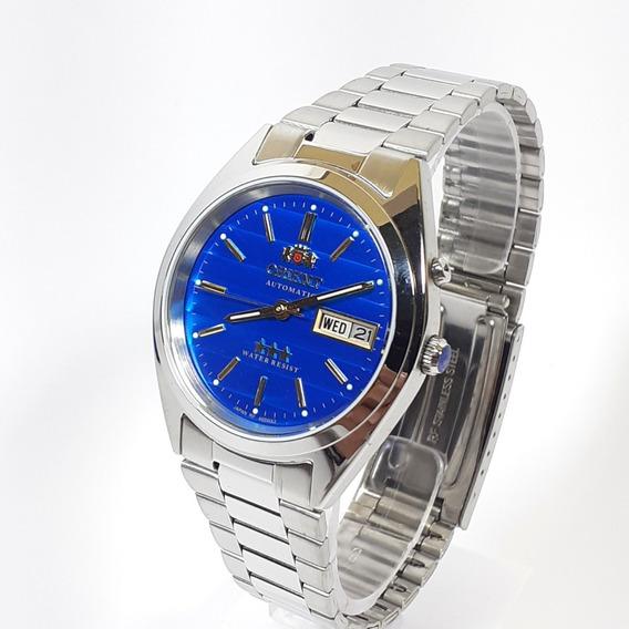 Relógio Automático Masculino Orient 469wa3 Fundo Azul