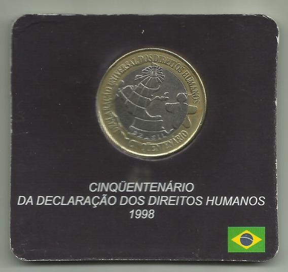 Moeda 1 Real Comemorativa 50 Anos Direitos Humanos (362)