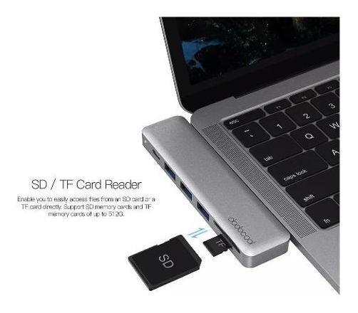 Hub Adaptador Usb-c 7 Em 1 Dodocool P/ Macbook Notebook Dc53