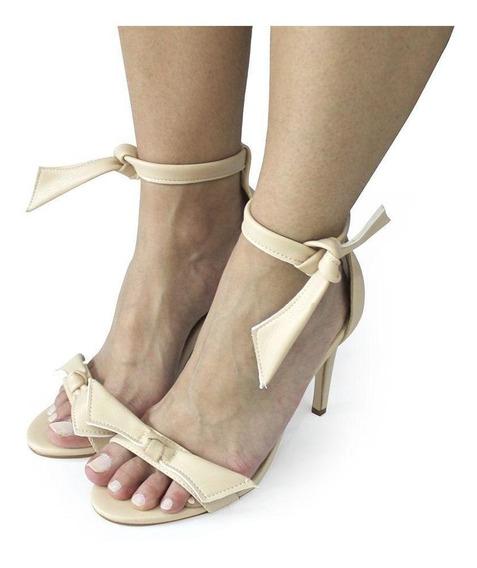 Sandalia Dali Shoes Salto Alto Fino E Amarração