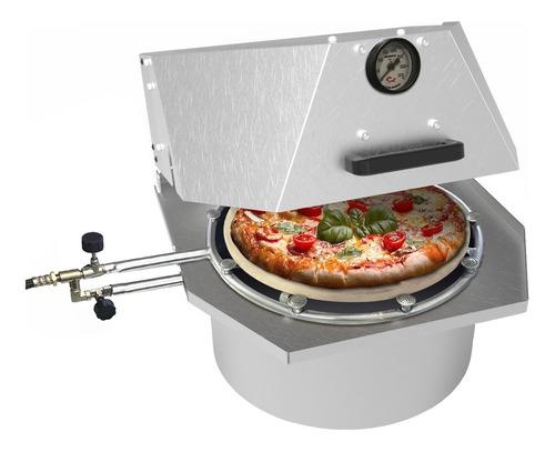 Forno De Pizza À Gás Redondo Faz Pizza 40cm Promoção Já