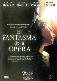 El Fantasma De La Opera 2004 Gerard Butler Pelicula Dvd