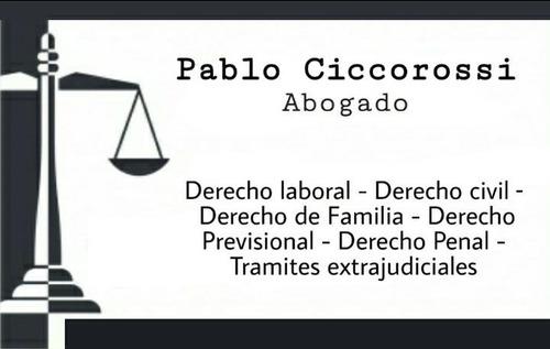 Imagen 1 de 1 de Abogado - Sucesiones, Despidos, Civil, Comercial Y Laboral
