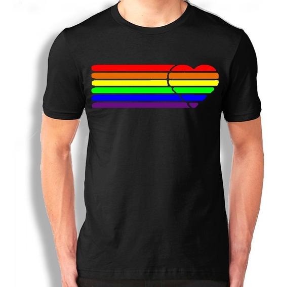 Playera Lgbt Gay Arcoíris Pride Marcha Corazon